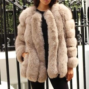 Image 5 - BFFUR ملابس خارجية للنساء معطف من الفرو الحقيقي 2020 جاكيت من الجلد الطبيعي الأصلي ملابس علوية للسيدات معطف شتوي متوسط موضة جلد كامل متين