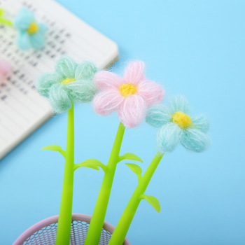 36pcs/set Korean Stationery Silicone Sunflower Quick Dry Brush Creative Sunflower Fabric Flower Neutral Pen Manufacturer