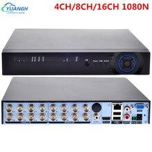 Gravador de vídeo dvr 1080n 4ch 8ch 16ch hybird nvr 5 em 1 cctv câmera gravador para 2mp ahd tvi cvi tvi câmeras ip