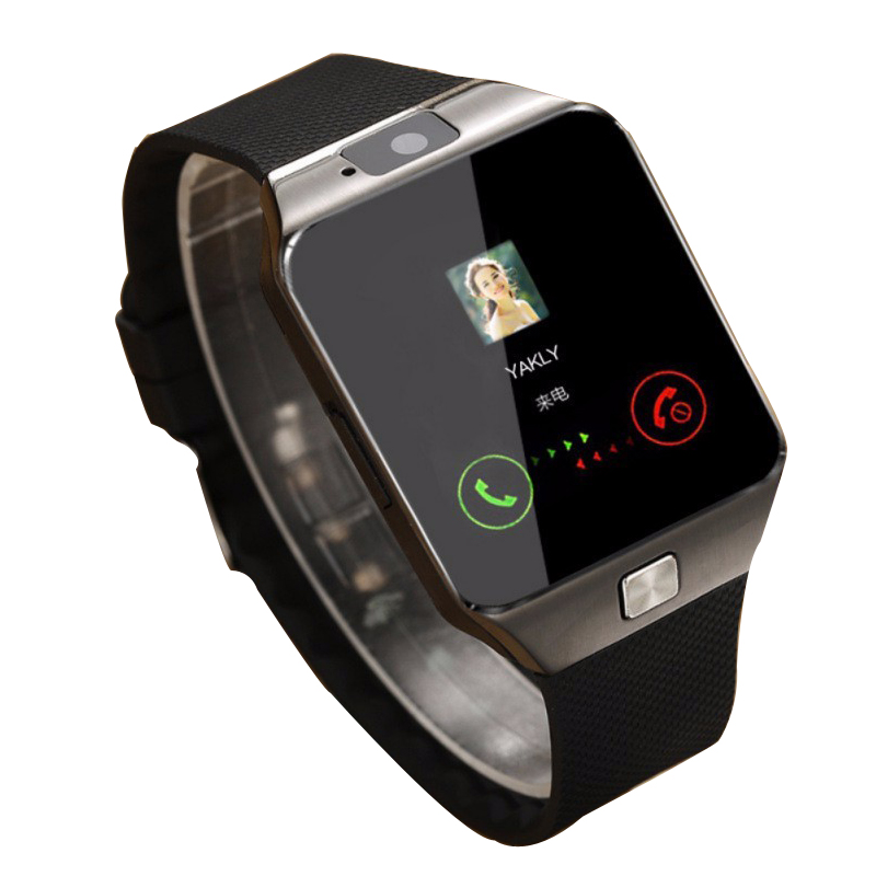 Aiqiu dz09 smartwatch relógio inteligente digital relógio masculino para apple iphone samsung android telefone móvel bluetooth sim tf cartão câmera