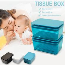 Dry Wet Tissue Box Cover Square Baby Wipes Paper Storage Box Household Desktop Seal Dust-proof With Lid Wet Tissue Case For Home недорого