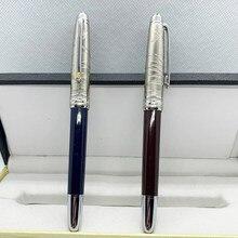 2021 MB серии Pilot коричневый металлический 14k перьевой ручки чернилами синего цвета шариковая ручка для подписи