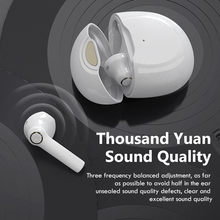 Tws fones de ouvido sem fio com microfone bluetooth 5.1 esportes à prova dhifi água sem fio fones alta fidelidade som