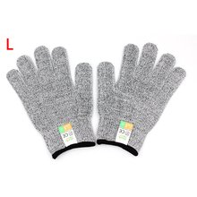1 Pair Anti-cut Gloves Cut Proof Stab Resistant Level 5 Protection Food Grade Safety Anti-slip Kitchen Cuts