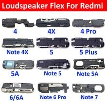 New Loudspeaker For Xiaomi Redmi Note 4X 4 5 Plus 6 7 6A 5A Pro S2 8 8A 9A 8T Loud Speaker Buzzer Ringer Flex Replacement Parts