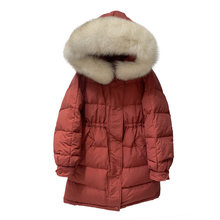 Big Natural Fur Collar 2020 New Winter Coat Women Warm Hooded Parkas 90% White Duck Down Jacket Female Loose Thick Snow Outwear(China)