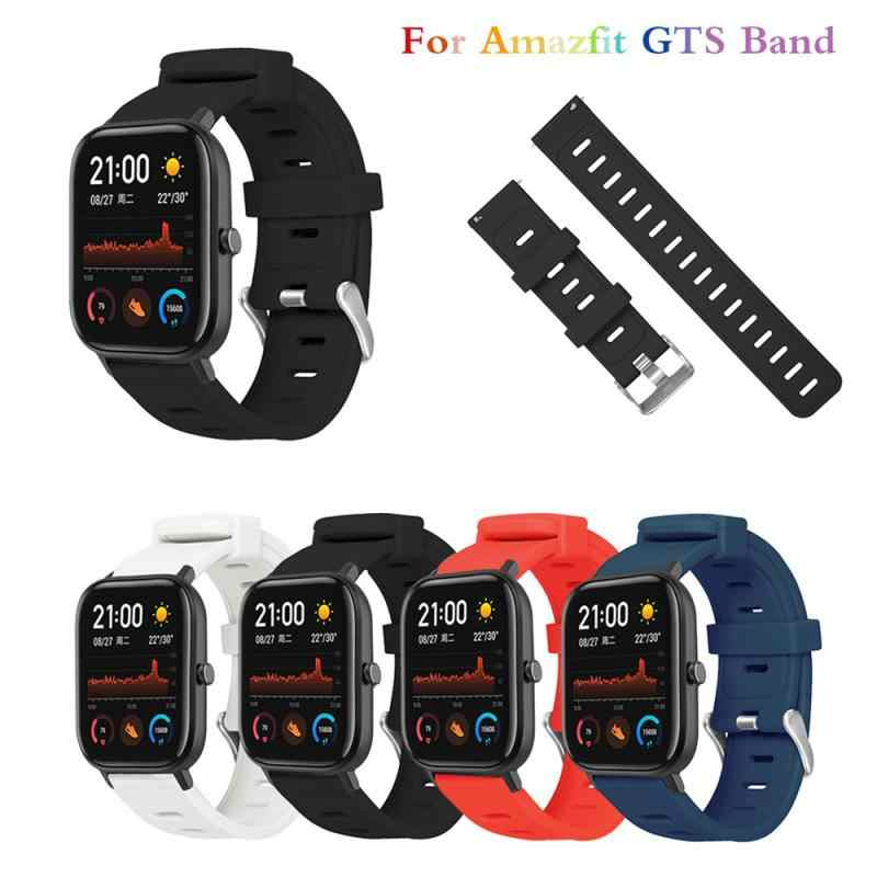 For Amazfit GTS Band 20mm Silicone Replacement Bracelet Strap For Xiaomi Huami Amazfit GTS Watchband Sport Watchband strap TSLM1