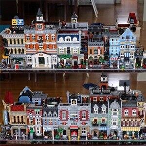 Image 2 - 都市ストリートビューシリーズ 15001 15002 15003 15004 15005 15006 15007 15008 15009 15010 12 組み立てビルディングブロックパズルおもちゃ