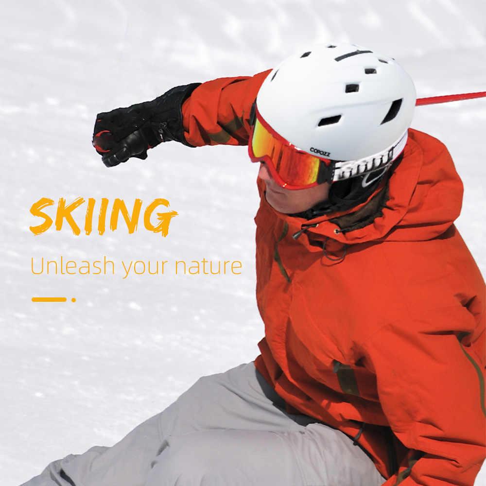 Лыжный шлем Copozz для мужчин и женщин, полузакрытый защитный зимний шлем для сноуборда, мотоцикла, снегохода, теплый шлем для взрослых и детей