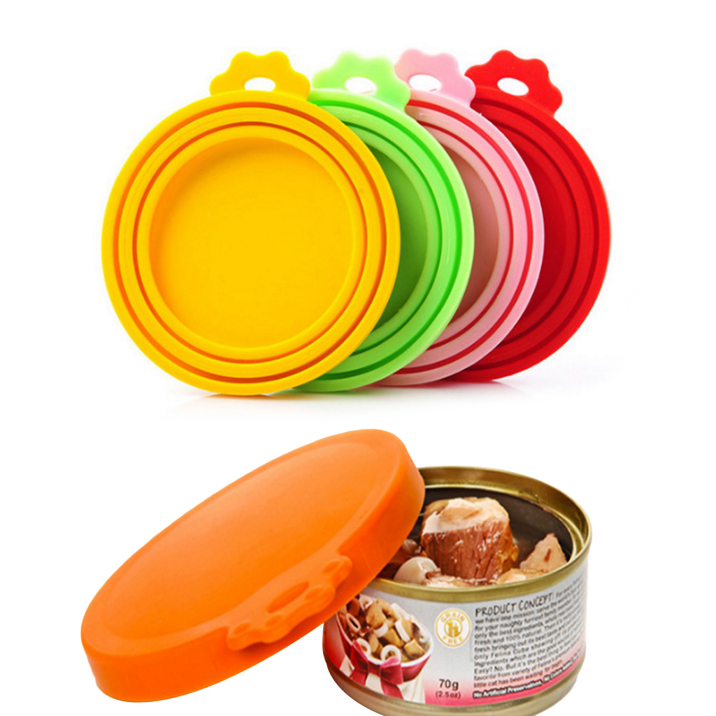 Portable Silicone Dog Cat Canned Lid Pet Food Cover Storage Fresh keeping Lids