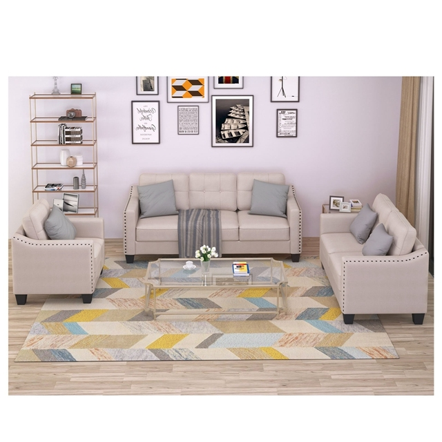 Living Room Set, 1 Sofa, 1 Loveseat And 1 Armchair  4