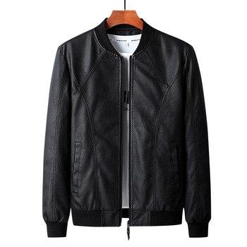 Spring Autumn leather jacket men coats o-neck Casual motorcycle jacket men Faux Leather Jackets Men leather jacket men men jacket winter leather faux fur coat men coat men leather jacket men leather jackets jackets and coats