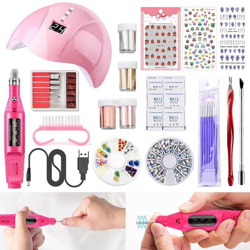 Conjunto de ferramentas de manicure inteligente secador