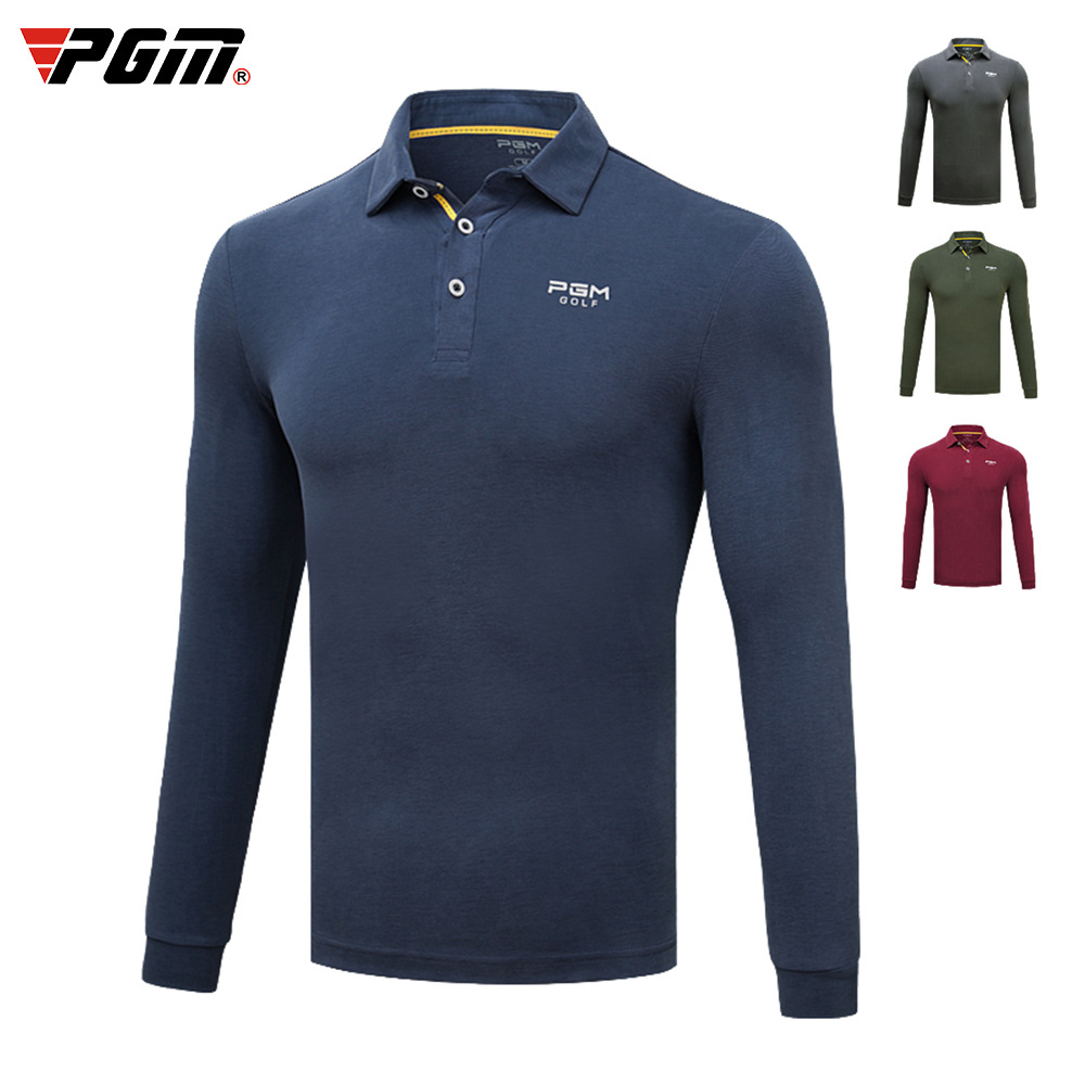 Golf T Shirt PGM Men's Autumn Winter High Elastic Thickening Clothing Long Sleeve T Shirts For Male Size M-XXL