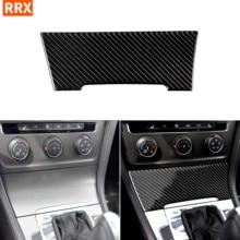 Для VW Golf 7 GTI R GTE GTD Mk7 2013-2017 углеродного волокна Стикеры Зажигалка центральной консоли панельная Накладка для коробки передач отделкой стайли...