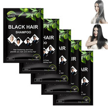 5pcs/lot Dexe Makeup Brand Black Hair Shampoo Only 5 Minutes Grey Removal Dye Coloring