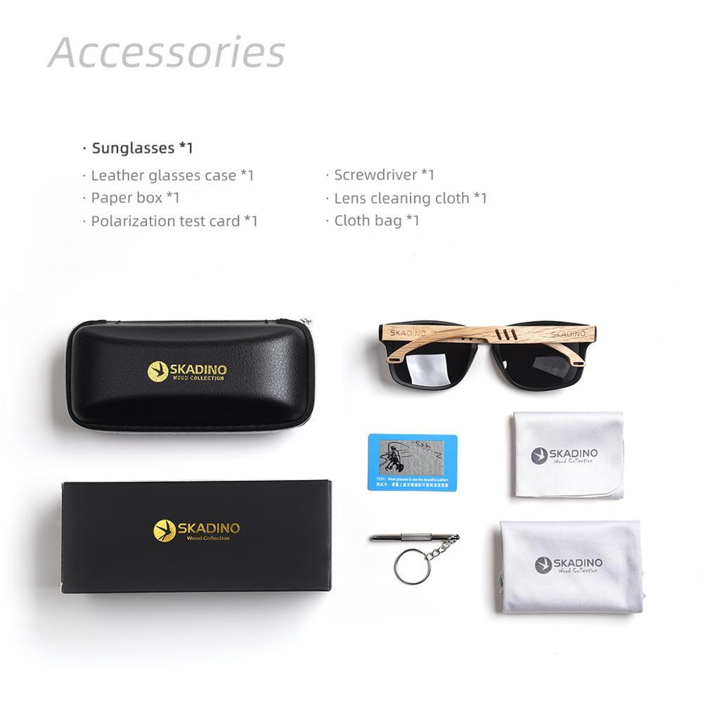 Image 5 - SKADINO Beech Wood Men Sunglasses Polarized Wooden Sun Glasses for Women Blue Green Lens Handmade Fashion Brand Cool UV400Mens Sunglasses   -