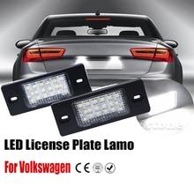 2Pcs LED Number License Plate Light Lamps for VW Beetle CC Eos Golf GTI Passat Car License Plate Lights Exterior Accessories стоимость