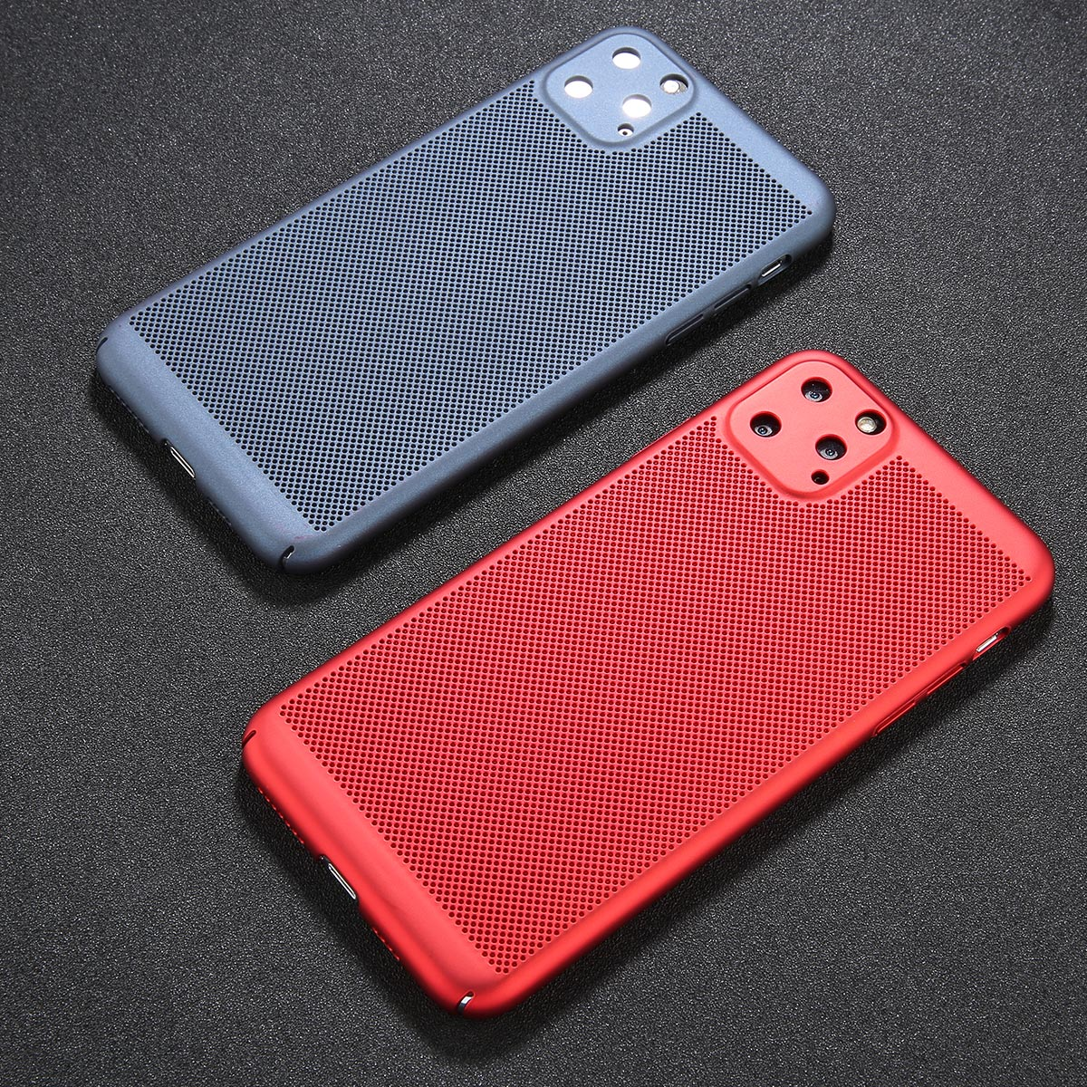 GTWIN Heat Dissipation Phone Case For iPhone 6 6s 7 8 Plus Hollow Full Cover Cool Matte Hard PC For iPhone 11 Pro X XR MAX