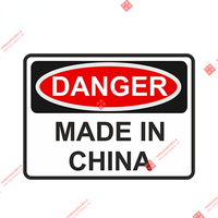 Pegatina de vinilo de advertencia de peligro para puerta, accesorios impermeables para coche personalizado, pegatinas de carreras, hechas en China