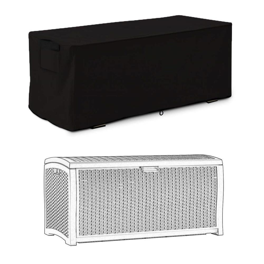 Cubierta impermeable de la caja de la cubierta del jardín de los muebles al aire libre de la protección del almacenamiento del cordón resistente al viento 123x62x55cm de Patio de polvo