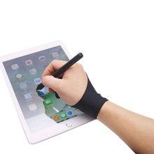 1 шт., перчатки для рисования с 2 пальцами, противообрастающие, для художника, для любой графической живописи, цифровой аблет для правой и левой руки