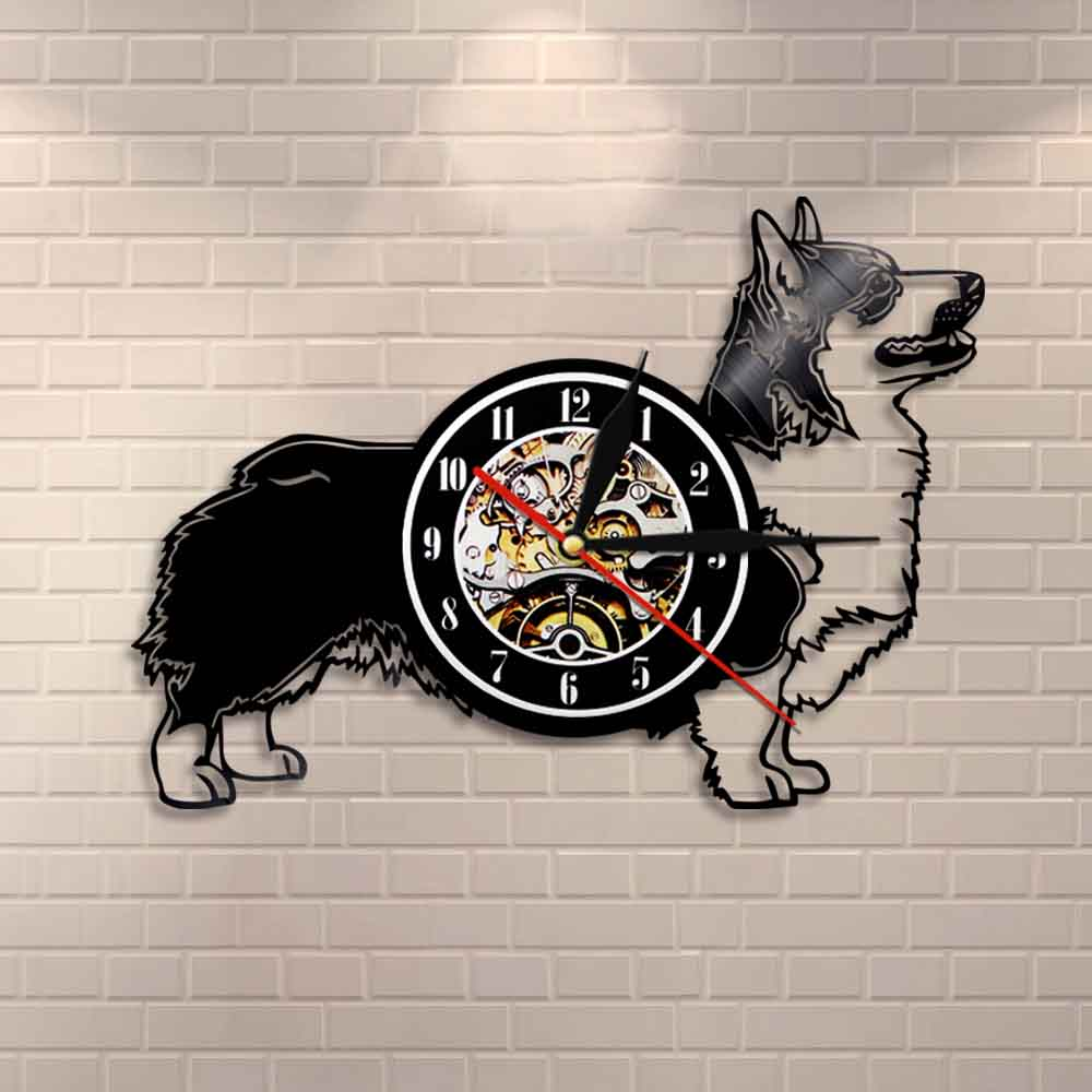 Veterinary Clinic Vinyl Record Wall Clock Dog Cat Modern Kid Room Decor Pet Gift