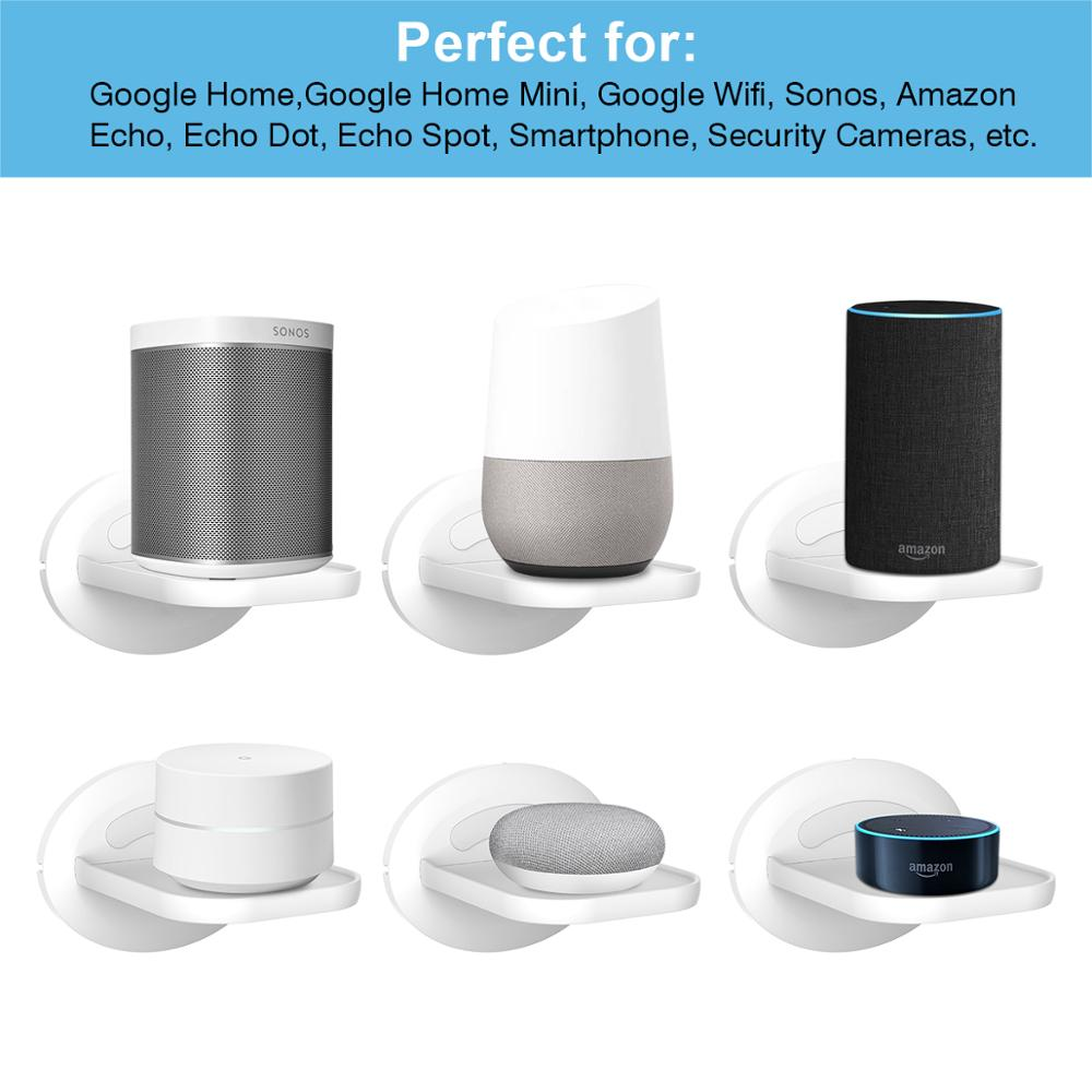 lowest price Wall Mount Shelf Holder Stand for Amazon Echo Dot  3rd Gen  Google home mini Sonos One Play 1 and More Home Security Camera