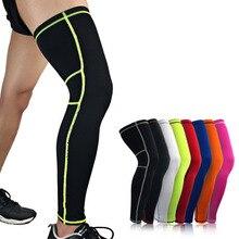 Leg-Warmers Basketball Cycling-Socks Calf-Sleeves Compression Knee Women 1pcs UV Lengthen
