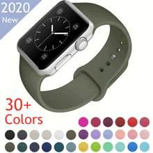 Силиконовая полоса для Apple Watch Series 6 iPhone 5 4 3 2 1 38 мм 42 мм, полоса для часов iWatch 4/5 40 мм 44 мм