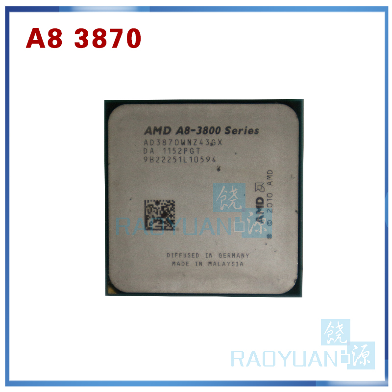 AMD A8-Series A8 3800 A8 3870 A8-3870 3GHz 100W Quad-Core CPU Processor AD3870WNZ43GX A8 3870K Socket FM1/ 905pin