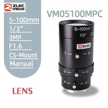2.0 ميجابيكسل 5 100 مللي متر HD CCTV عدسة دليل Iris فاريفوكال CS جبل عدسة ل كاميرات ip عدسة منخفضة تشويه فا عدسة