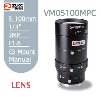 2 0 megapikselowy 5-100mm HD obiektywy kamery przemysłowej instrukcja Iris zmiennoogniskowy CS mocowanie obiektywu do kamery ip obiektyw niewielkie zniekształcenia FA obiektyw tanie i dobre opinie ZLKC Teleobiektyw Obiektyw zoom F1 6 2014 Brak VM05100MPC