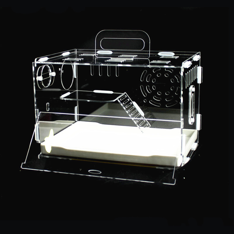 Acrylic Hamster Cage  Reptile Home Double Transparent Villa Golden Bear Cage  House Accessories