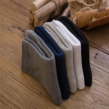New men's cotton warm socks With pure color and a tube of men's socks 056