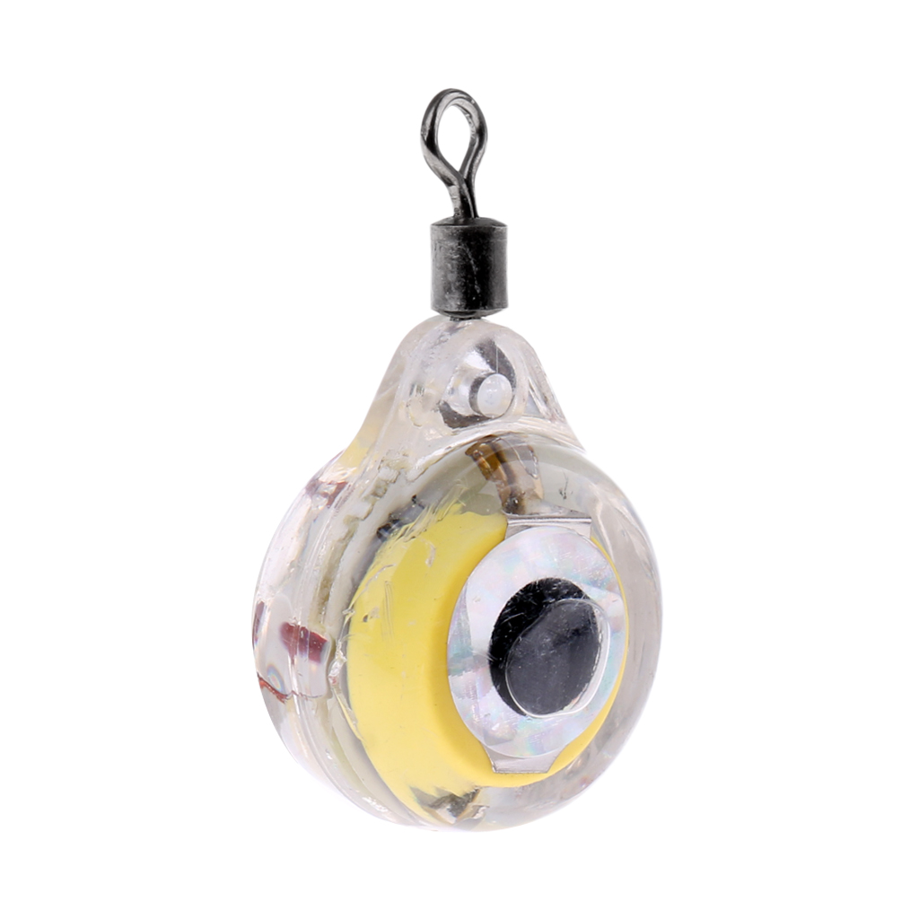 LED Underwater Eye Shape Electronic Fishing Squid Lure Light Baits Deep Diving Lure