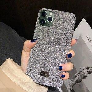 Image 1 - Bling bling glitter elmas parlayan lüks darbeye dayanıklı arka kasayı iPhone X XS XS MAX XR 12 11 Pro Max 7 8 artı funda kız