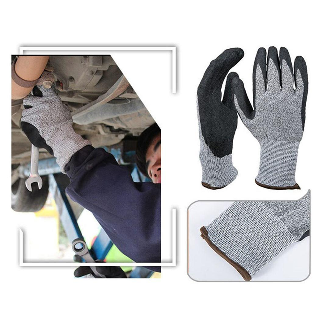 Cut-proof Stab-resistant Wear-resistant Non-slip Gardening Protective Pair Gray 90g Gloves
