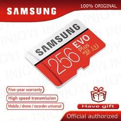 بطاقة الذاكرة الأصلية سامسونج مايكرو SD 32GB الفئة 10 بطاقة الذاكرة EVO + EVO Plus microSD 256GB 128GB 64GB 16GB TF بطاقة كارتاو دي ميموريا