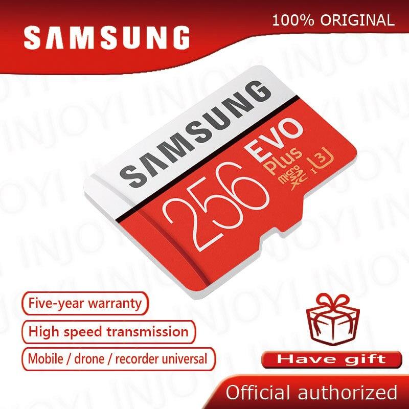 Original SAMSUNG Micro tarjeta SD de 32 GB Clase 10 Tarjeta de Memoria EVO + EVO Plus microSD 256 GB 128 GB 64 GB 16 GB Tf cartao de memoria