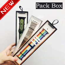 Simple Watch Strap Box Case for Apple Watch Band 6 5 4 3 Box Paper Pack 38/40/42/44MM for iWatch series  Band 20MM 22MM