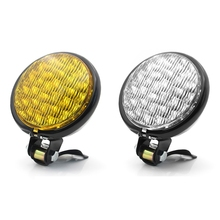 Motorcycle LED Headlight Vintage Front Lights Lamps Retro Round Spotlight Lamp