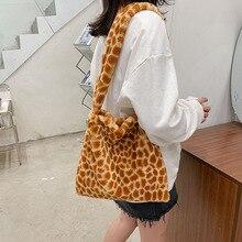 Messenger-Bag Shopping-Handbag Tote Female Original-Design Plush-Material Large-Capacity