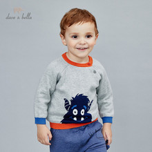 Knitted Sweater Christmas Dave Bella Toddler Baby-Boys Kids Winter Fashion Cartoon DBA14661