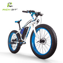 Fat-Tire Bike Lithium-Battery Richbit Electric 1000W 48V New Powerful No with 17AH