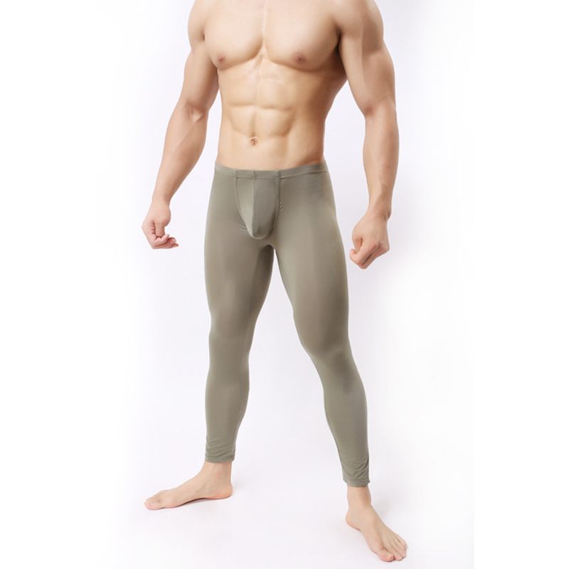 OLOME Men Long Johns Thin Sexy Underwear Warm Long Johns Mens Underpants Legging Tight Thermo Underwear Men's Winter Sleepwear