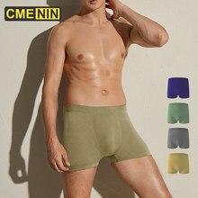 CMENIN – Boxer sans couture pour homme, sous-vêtement confortable, culotte masculine, 4 couleurs, CM011