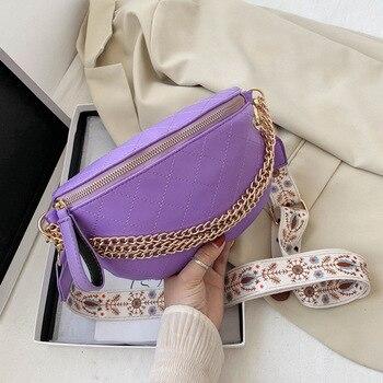 2020 New waist bag Leather Waist Pack female Belt Bag Designer women chest bag Fashion purse shoulder bags fanny pack for women