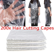 200x Waterproof Salon Hair Cutting Capes Gown Barber Shop Aprons Cloth Clear