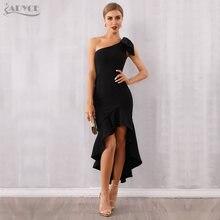 Adyce 2021 Новое летнее женское черное платье на одно плечо